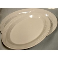 "CorningWare Cookware - Set of 2 Serving Trays-Winter White - 14"" & 16"" - New"