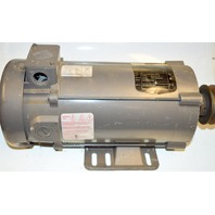 Baldor 1 HP, 1750 rpm, 56C Frame, TEFC, 180VDC Motor with pulley #3455