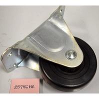 "4"" x 1 5/16"" Rigid Plate Mount Caster-Rubber Wheel -Faultless - 1 pc. #25756NR"