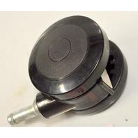 "3"" Dual Wheel Caster-7/16"" x1"" Stem. 4 pc set - Black - #5105"