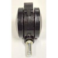 "3"" Dual Wheel Caster w/Brake - 7/16"" x 1"" Stem - #5108 - Set of 4"
