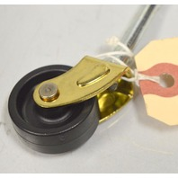 "Single Wheel Caster 1 1/4"" x 1/2"" Wheel -Tapered Stem - 4 pcs - #5975"