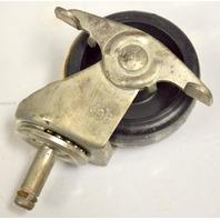 "3""x 1 1/4"" Poly Wheel Stem Caster w/brake 7/16x1 1/4"" #91 stem - #503581 - 4 pcs"