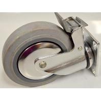 """5""""x 1.25"""" Swivel Plt Mnt, Tota llock, 250# Rated TPR Wheel-#5750-01-TRB-SWB -1 pc"""