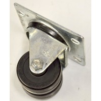 """2""""x 13/16"""" Dual Wheel Plt Mnt Caster -#3322-01-HR, 260#Rated, 1 Pc."""