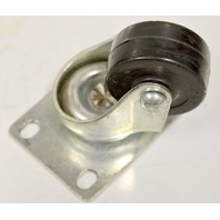 """2"""" x 1""""Plt Mnt Swivel Soft Rubber Caster-Low Profile #3820-01-SR - 110# Rated -1 pc"""
