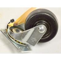 "2"" x 1"" Soft Rubber Plate Mount Swivel Caster - #3020-01-SR - 1 Pc."