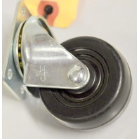 "2"" x 1"" Soft Rubber Plate Mount Swivel Caster - #3020-01-SR - 1 Pc."