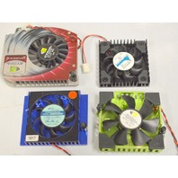 Chip Set Cooling Fans - Mixed Brands, 4 fans - New and Used