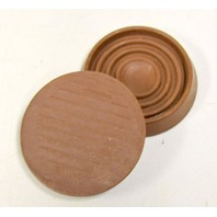 """1 Lot of 65 sets of 4 - 1.75"""" dia.round caster cups (260 piieces in the lot) Color Brown."""