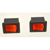 Miniature Rocker Switch- Lighted - Red - 4 pcs. - 5801