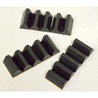 "Rubber Bumpers-Wedge Shape-self stick-3/4""L x 3/8""Base - 1750 pc per box"