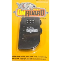 OnGuard Retractor Terrier Roller Combination Lock - bike/skis/luggage/backpack/etc