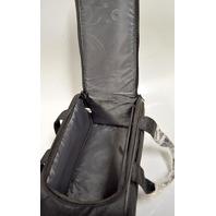 "HP Black Padded Printer Bag-2 Internal packets-Zipper Top- 12"" x 5"" x 6"""