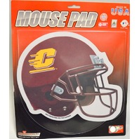 Central Michigan Chippewas Football Helmet Mouse Pad