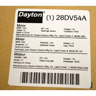 Dayton #28DV54A, Shaded Pole Motor, RPM 1550, 115V 60 Hz, PH 1 1.5 Amps
