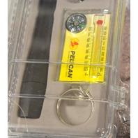 Pelican L4 1850 Kit: Slim Profile Led Light, Compass-Thermometer, lock back knife