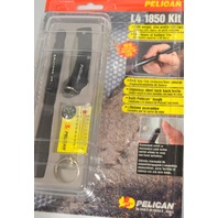 Pelican L4 1850 Kit: Slim Profile Led Light, Compass-Thermometer, lock back knife