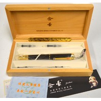Deluxe Fountain Pen Dragon Clip Deluxe Golden Style,classical Chinese Dragon Carved with Push in Style Ink Converter