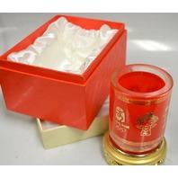 "2008 Peijing Olympic Pencil Vase 5 1/2"" T - 3 1/2"" Dia. - Never used original box."