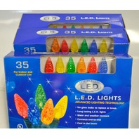Holiday Creation - 35 LED lights for Indoor and Outdoor Use - Mixed colors-3 packs