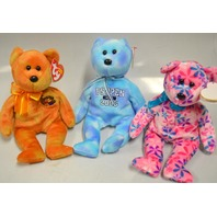 3 Beanie Babies: Funky, Deuce and Harvester - All new with the tags on.