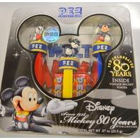Disney Pez Celebrating 80 Years - 3 Limited Edition Pez Dispensers.