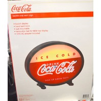 "Coca Cola Backlit Oval Neon Sign - 18"" - Wall Mountable/Removable Feet for on table."