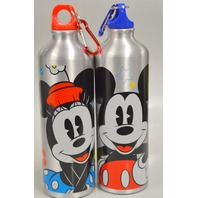 NEW Mickey and Minnie Aluminum Water Bottles