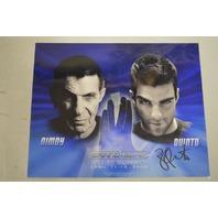 Star Trek Signed Poster Zachary Quinto