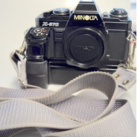 Minolta X-570 SLR Film Camera with Auto Winder  with strap