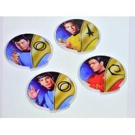 "Star Trek Acrylic Lighted Coasters-set of 4. 4"" x 4"" - New"
