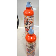 2 - Mickey Mouse Aluminum Water Bottles - 20 Oz. - New