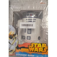 "Star Wars R2-D2 Ceramic Bank - 5.74""W x 8.26""H x 4.72"" D."