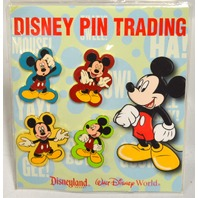 Disney Pin Trading from Theme Park - 4 Mickey Mouse Pins. Collecting Pins