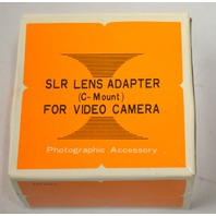 SLR Lens Adapter (C Mount) For Video Camera for Minolta.