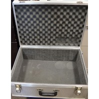 Aluminum Equip.Box, Foam lined, Hinged Closure, 2 lock downs in front 22 x16x9 D.