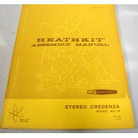 Heathkit Assembly Manual for Stereo Credenza Model AD-19