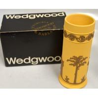 Wedgwood Taupe on Cane Jas[erware 88007Z  2713 - 6 1/2 Spill Vase-Signed