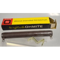 Ohmite Vitreous Enameled Resistor 0600B, 100 Watts, 10 Ohms Fixed.