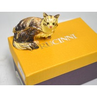 "Rucinni ""Swarovski"" Trinket Box -Cat with Crystals RB1643."