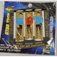 Star Trek Collectible Pins - Bones, Scotty and Spock-Gone but not Forgotten