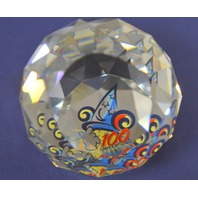 "Swarovski-Arribas Disney round paper weight ""100 Years of Magic"""
