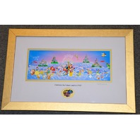 "Disney ""Celebrate the Future Land to LAND"" framed pin set  LE #0377/2000"