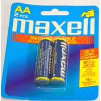 2 Pack AA Maxel Rechargeable 1400 Nickel-Metal-Hydride Batteries - New Old Stock
