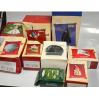 Ornaments: 9 pcs - The boxes all are bad - Ornaments are new.