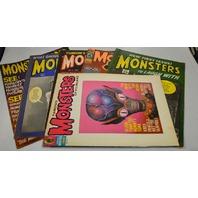 Vintage Monster Magazines 1965 Era  - 6 magazines. (see write up)