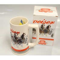Budweiser 2011 Holiday Beer Stein Clydesdales New in Box