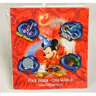 Disney Walt Disney World - Four Parks / One World 4 Pin Set