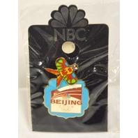 NBC Beijing 2008 Olympic Official Logo Moving Bird Kite Pin